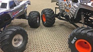 Traxxas BIGFOOT & Axial SMT10 Max D Tests - Trigger King R/C Monster Trucks