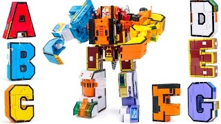 A B C D E F G Super Alphabet Robot Construction Transformers Combine Robot 7 Vehicle Car Toys