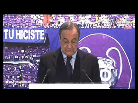 Presentación de Rafa Benítez como entrenador del Real Madrid.