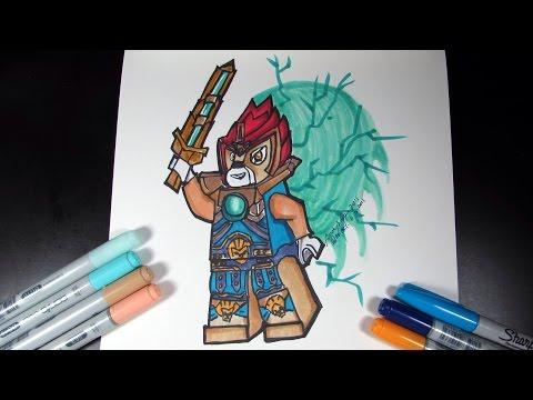 Видео как нарисовать Лего Чима