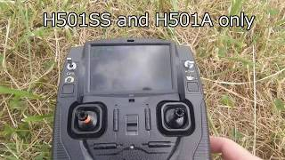 "H501 SS and H501A -  RTH ""Feature"""