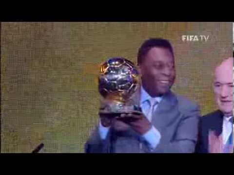 Pele Crying after winning  FIFA Ballon d'Or Prix d'Honneur 2013