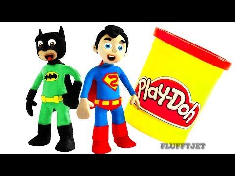 Batman & Superman play Soccer Ball