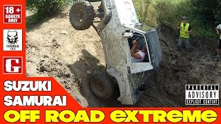 SUZUKI SAMURAI OFF ROAD EXTREME  (4x4 Trial Crash Rollover) - Acceleration Sound Exhaust