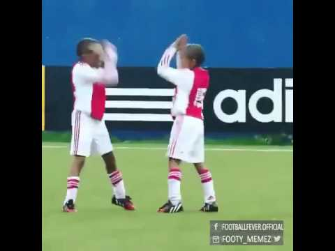 Kids celebrate their goals #CR7 style