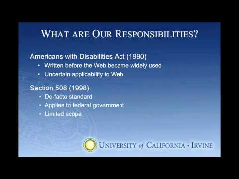 Web Accessibility for Content Providers - Pt.1, Background