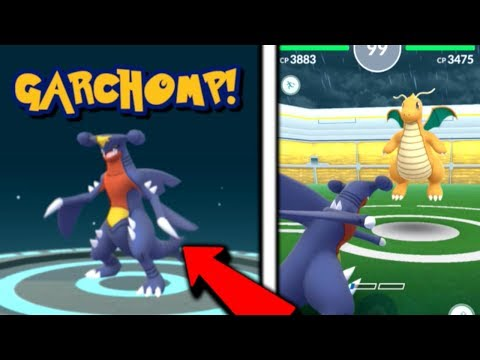 GARCHOMP! EVOLUTION AND POWER UP! GYM TEST! POKEMON GO