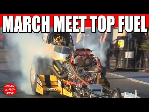 2012 Bakersfield March Meet -Nitro Top Fuel First RD White, Sorokin, Young, Nostalgia Drag Racing