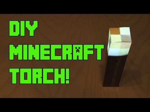 DIY Minecraft Torch – with Flickering Effect!