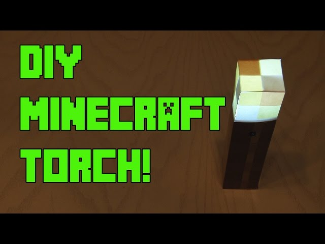 Flickering DIY Minecraft Torch!