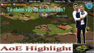 AoE Highlight || Cách hóa giải song Shang trong map Large của BeBe, Đức Anh