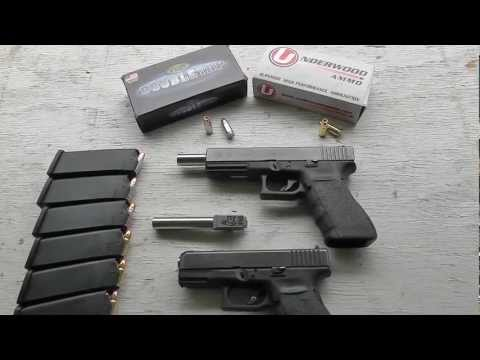 Glock 20 & Glock 29 - 9x25 Dillon Accuracy & Velocity - Lone Wolf Barrel - Underwood & Doubletap