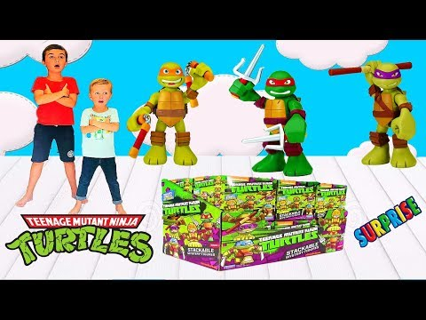 Распаковка Сюрпризов ЧЕРЕПАШКИ НИНДЗЯ! Раф сошел с ума! UNBOXING SURPRISE TURTLES