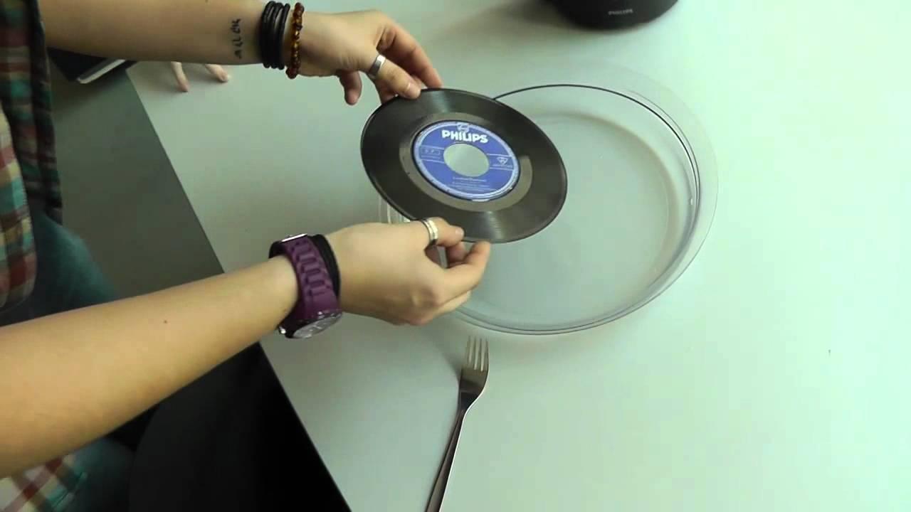 Absolut vinyl schallplatten im wasserbad als deko formen for Deko schallplatten