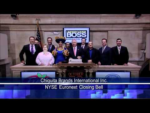 28 October 2010 Chiquita Brands International Inc. Visits the NYSE