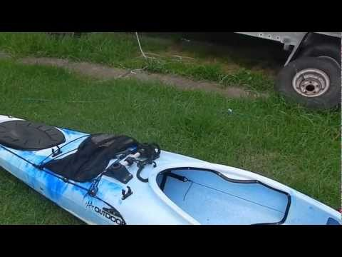 Kayak outriggers (BCF)  and fishing equipment install.mp4