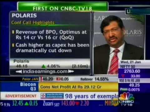 Polaris Software Lab Ltd. Q3 Results - Arun Jain and Arup Gupta on CNBC - Part 1