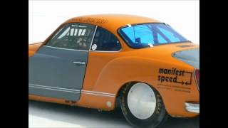 A Bug and a Ghia at Bonneville