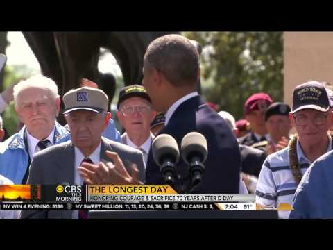 CBS reports on D-Day 70th anniversary commemoration