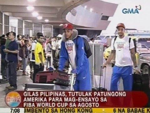 UB: Gilas Pilipinas, tutulak patungong Amerika para mag-ensayo sa FIBA World Cup