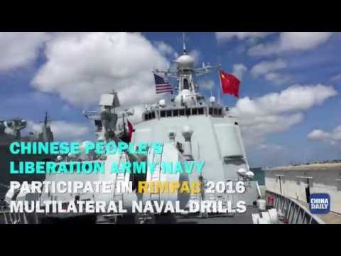 Chinese People's Liberation Army Navy ships participate in RIMPAC 2016 multilateral naval drills
