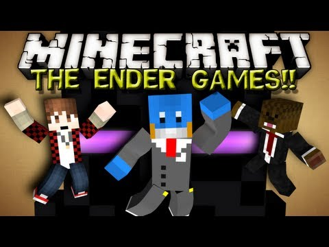 Minecraft ENDER GAMES! - w/ BajanCanadian and JeromeASF!!!