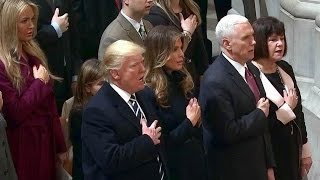 President Donald Trump attends National Prayer Service. Jan 21. 2017