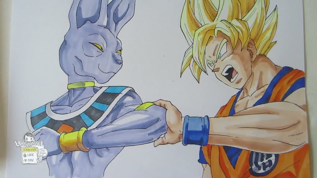 Dragon Drawings in Color Drawing Dragon Ball z Battle