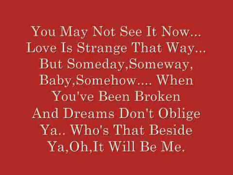 Kristin Chenoweth- It Will Be Me (lyrics) video