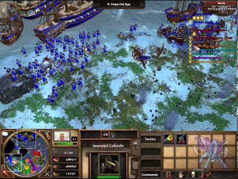 Magic battle: Age of empires 3 skirmish 1 vs 7 on extreme w/o population