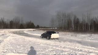 Subaru drift in Gaiziunai 2012-12-22.mp4
