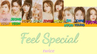 [TEASER Silhouette Intro] TWICE(트와이스) - Feel Special 파트별 가사 Color coded Han/Eng Lyrics