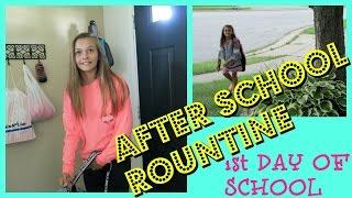 🚌AFTER SCHOOL ROUTINE🚌 |😮 1ST DAY OF SCHOOL😮 | Emma & Ellie