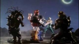Mighty Morphin Power Rangers Green Ranger vs Dino Megazord