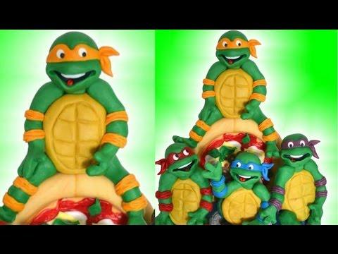 Tutorial Ninja Turtles cake pasta di zucchero torta decorata fondant