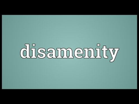 Header of disamenity