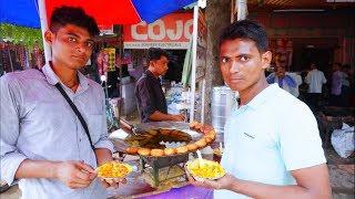 10 गांव की एक मार्केट - Village Market Fast Food   Indian Village Street Food   Krishna Vlogs