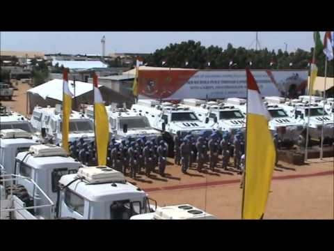 Medal Parade of Indonesia FPU and Police Advisor UNAMID 2013