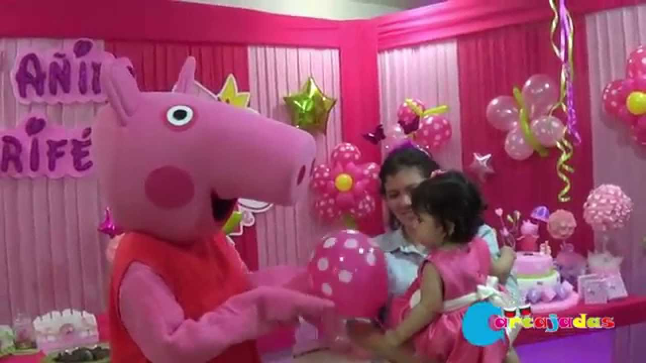 Show infantil de peppa pig youtube for Decoracion pared infantil