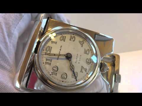 Antique (circa 1930) Tiffany & Company 8 day Sterling travel alarm clock