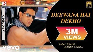 download lagu Deewana Hai Dekho  - Kabhi Khushi Kabhie Gham gratis