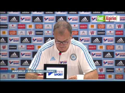 Le coach de l'Olympique de Marseille Marcelo Bielsa annonce sa démission