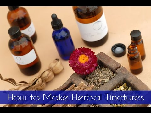How to Make Herbal Tinctures (and save big money!)