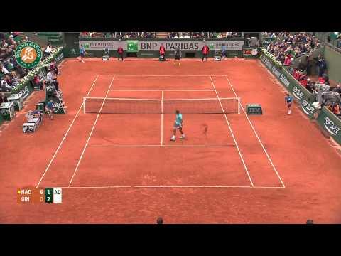 Roland Garros 2014 Monday Highlights Nadal Ginepri