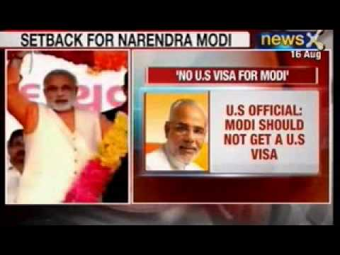 News X: Gujarat Chief Minister Narendra Modi shouldn't be granted visa.