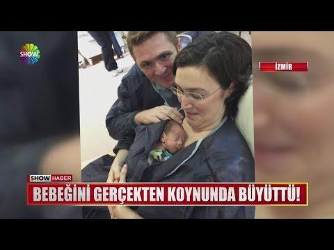 Bebeğini gerçekten koynunda büyüttü!