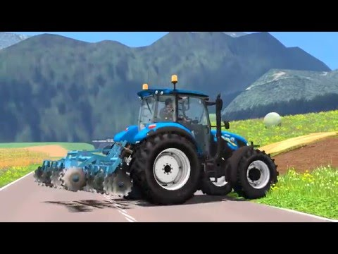 Working with New Holland T5.115 in UTH [Dolenjska]