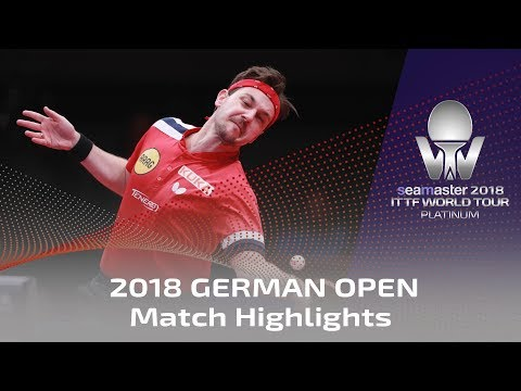 2018 German Open Highlights I Ma Long Vs Timo Boll (1/4)