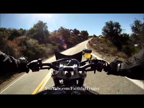 My First Time Riding A Sexy Naked Bike 2013 Triumph Street Triple R 675cc Canyon Ride video