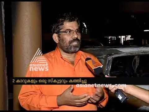 Swami Sandeepananda Giri's ashram attacked  : Vehicles fired
